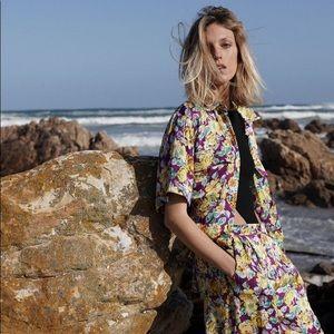 Zara FLORAL PRINT FLOWY SHIRT THE BIANCA TOP Multi